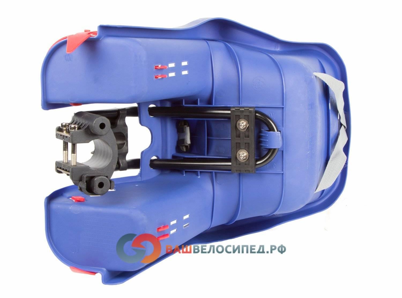 Детское велокресло на раму/вынос TUV темно-синее, до 15кг переднее, 5-259846, фото 5