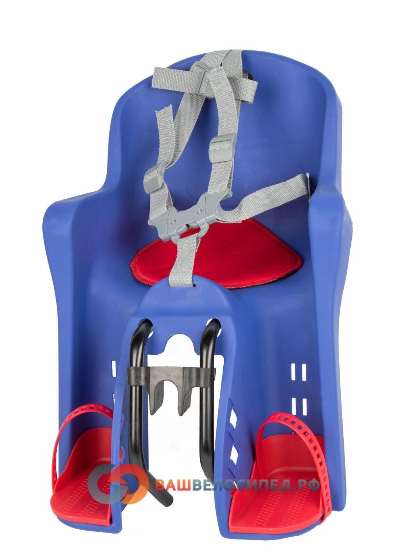 Детское велокресло на раму/вынос TUV темно-синее, до 15кг переднее, 5-259846, фото 7