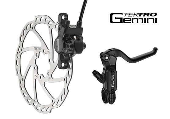 Тормозной набор велосипедный TEKTRO передний диск. гидр. Gemini ротор 160мм 6-510