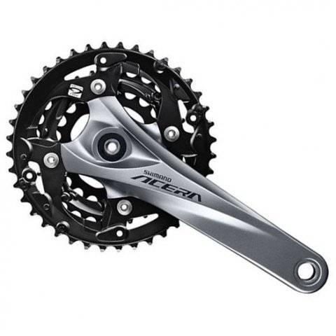 Система шатунов велосипедна SHIMANO Acera M3000, 175мм, Квадрат, 40/30/22T, черный, без защиты, с болтами, EFCM3000E002X