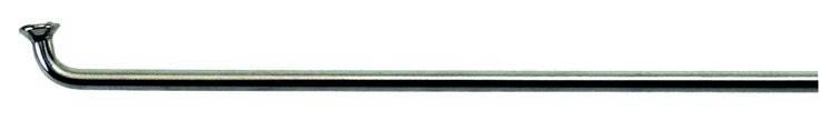 """Спицы велосипедные CNSPOKE 26"""" серебристые нержавеющая сталь 2,0*252мм с ниппелем 5-283510, фото 1"""