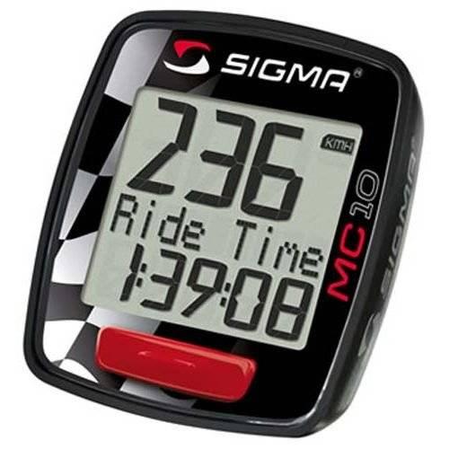 Велокомпьютер Sigma Sport МC 10, 10 функций, проводной, черный, 1013
