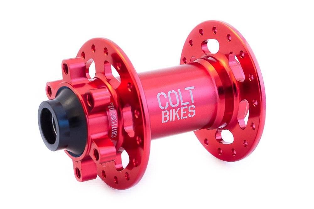 Втулка передняя Colt Bikes .38 15mm, 32h, красный, фото 1