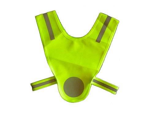 Микро-жилет световозвращающий для самых маленьких (1-3г) зелёный