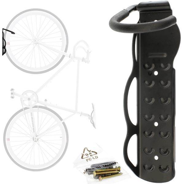 Крюк стальной настенный для хранения велосипеда за колесо (вертикально) HUK 05, фото 1