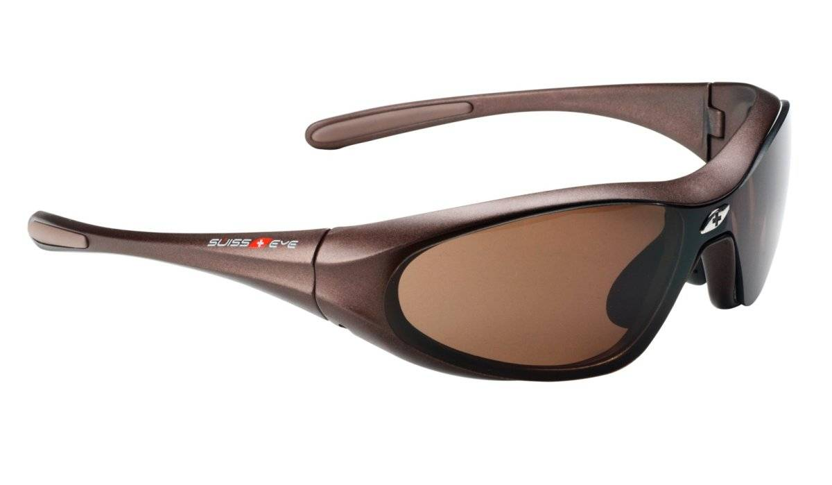 Очки велосипедные SWISSEYE Concept M, повседневные, оправа бронзовая, линзы коричневые+оранжевые, 12013