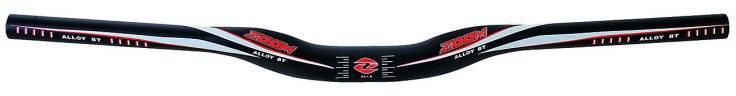 Руль для велосипеда ZOOM МТВ широкий усиленный изогнутый 10` со шкал. 22,2/31,8х680х30мм 5-403888, фото 1