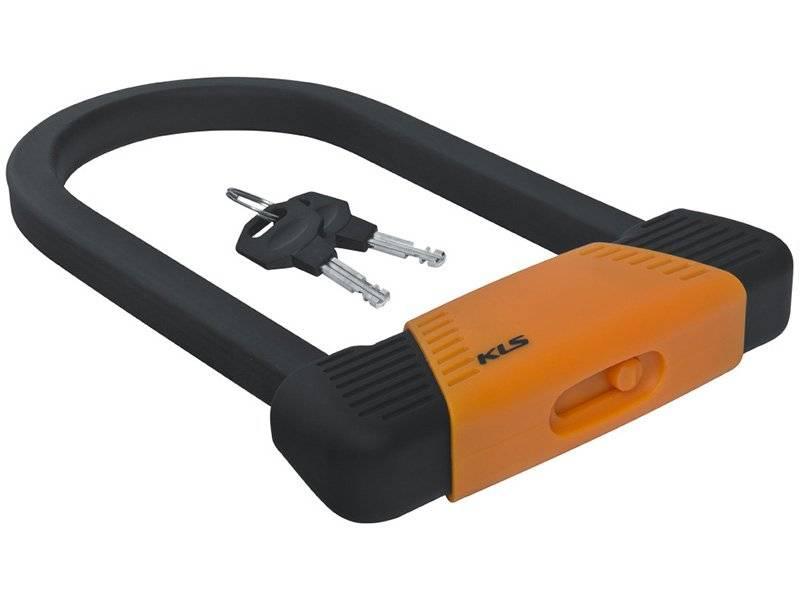 Велосипедный замок KELLYS BLOCK, U-lock, на ключ, квадратного сечения, покрытие антискретч, оранжевый, KLS Block