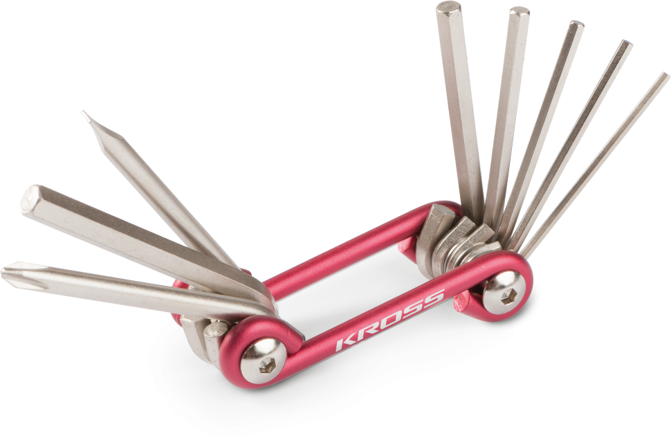 Многофункциональный набор инструментов для велосипеда Kross STARK-8 функций, красный, T4CKU000130RD