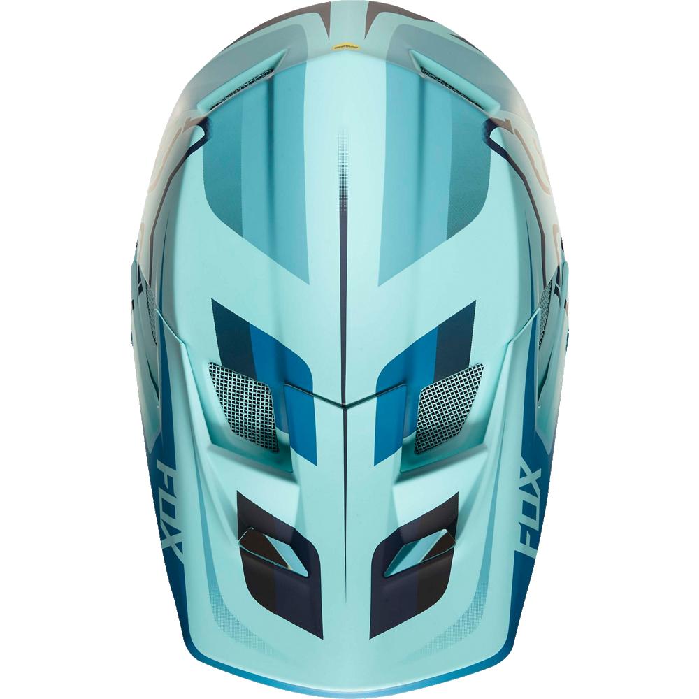 Козырек к шлему Fox Rampage Pro Carbon-Seca Visor, синий, пластик, 20301-231-OS