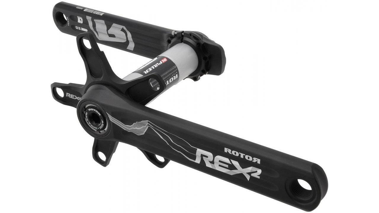 Шатуны Rotor Rex 2.2 XC2 BCD110/60 Black 175mm (C02-069-21010-002), фото 1