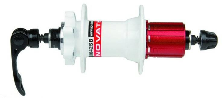 Втулка задняя NOVATEС, 32 отверстия, для дисковых тормозов, с эксентриком, белая, 5-326101, фото 1