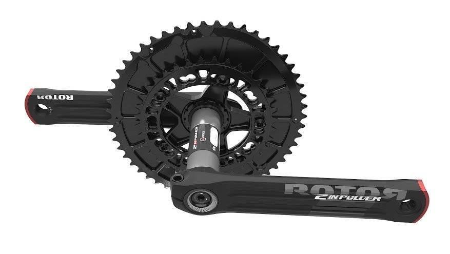 Шатуны с измерителем мощности Rotor 2Inpower BCD110 Black/Red 172.5mm (C13-026-20010-001), фото 2
