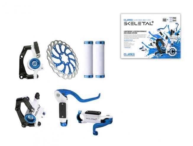 Тормозной набор для велосипеда CLARK`S передний+задний дисковой гидравлический диск 160мм 3-214