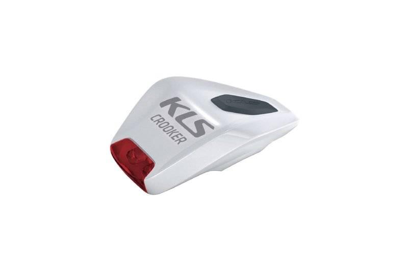 Фонарь диодный KELLYS CROOKER, задний, 2 красных диода, 2 режима, крепление на липучке, белый