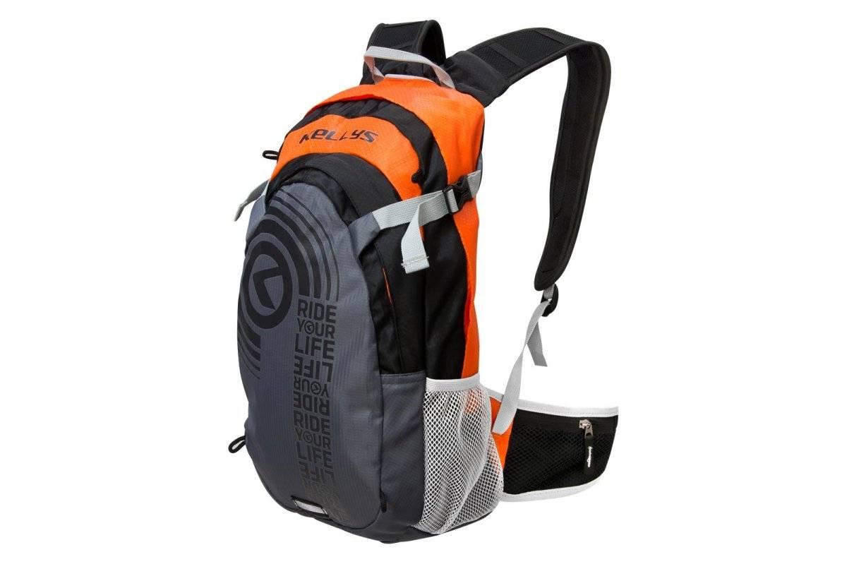 Велосипедный рюкзак KELLYS HUNTER, объём 15л, цвет серый/оранжевый, Rucksack KELLYS HUNTER grey-oran