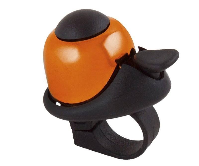 Звонок M-WAVE алюм./пластик мини D=36мм громкий и долгий звук оранжевый 5-420147
