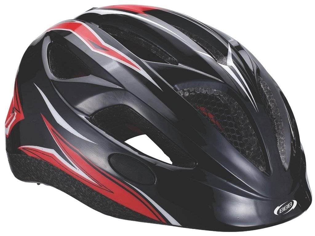 Детский велошлем BBB 2015, helmet Hero (flash), черно-красный, US:M (51-55 см), BHE-48