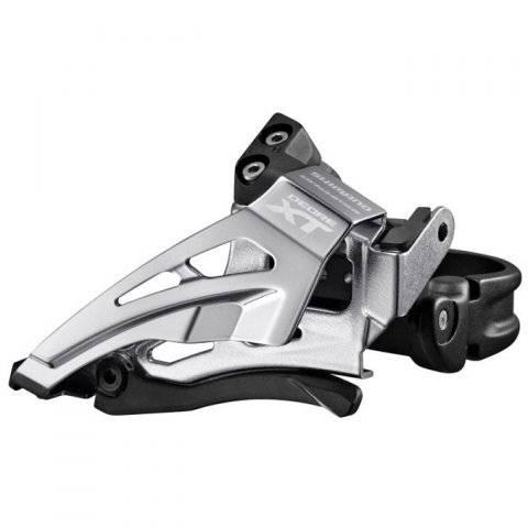 Переключатель передний Shimano XT M8025-L, нижняя тяга, для 2x11, нижний хомут, IFDM8025LX6 переключатель передний dnp ly g818lj 42т хомут 34 9mm нижняя тяга