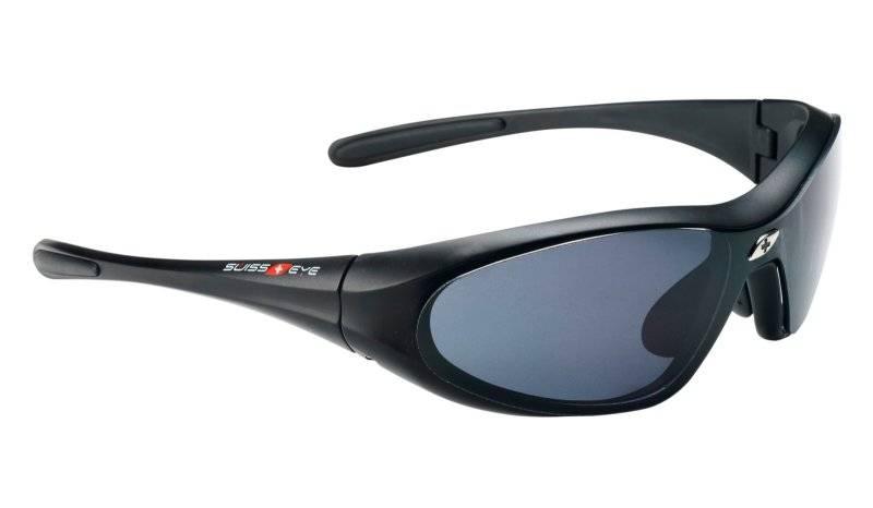 Очки велосипедные SWISSEYE Concept M, повседневные, оправа чёрная матовая, линзы дымчатые+оранжевые, 12011