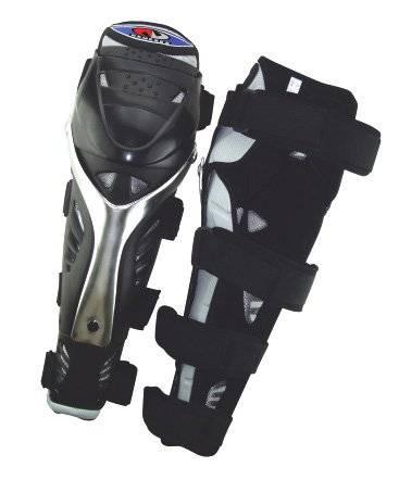 Защита голень+колено TBS NM-613-L, пластмассовые чашки, чёрная, NM-613-L