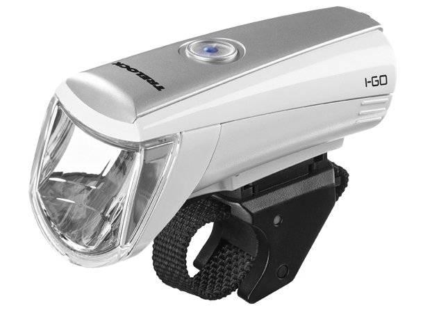 Фонарь TRELOCK LS 750 I-GO® 30 FB Batt white ZL700, передний