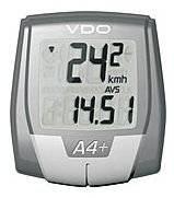Велокомпьютер VDO A4, беспроводной, 4 функции, серый, 4-0101