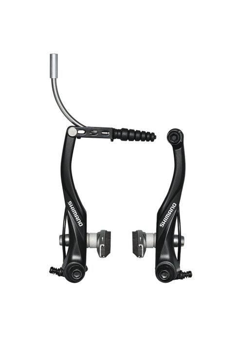 Тормоза для велосипеда SHIMANO ALIVIO, V-брейк 107мм., алюм., черный , 2-4040
