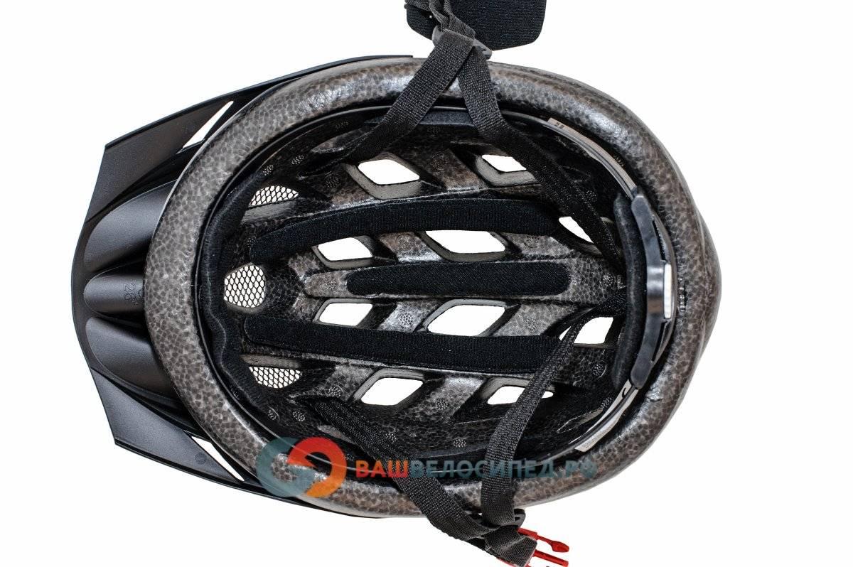 Велошлем AUTHOR Wind 143 Black с сеточкой, 21 отверстие (54-58см) черно-белый 8-9001123, фото 6