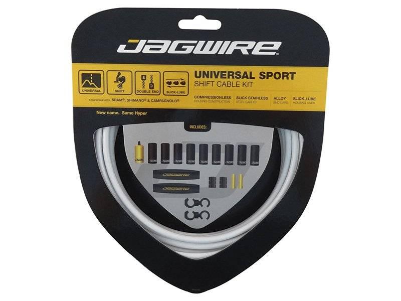 Тросы с оболочками JAGWIRE тормозные,Universal Sport Shift, комплект, белый, UCK214