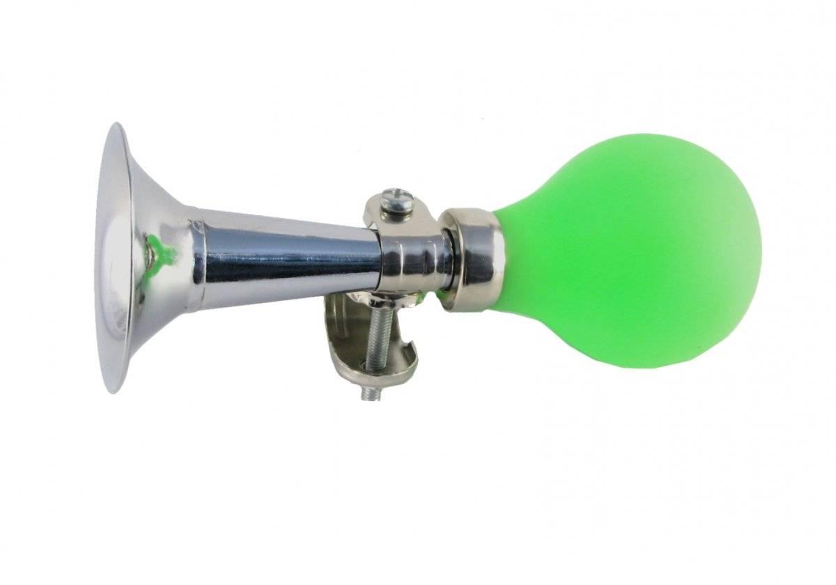 Фото - Клаксон металлический, груша зелёная HR 277/17 green клаксон велосипедный vinca sport металлический vintage с коричневой грушей hr 278 brown