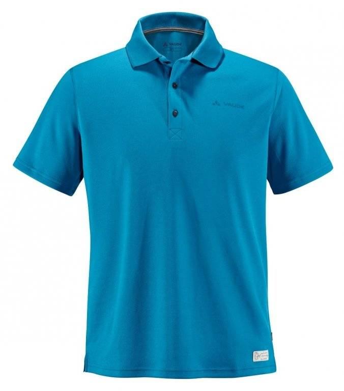 Велофутболка VAUDE Me Marwick Polo Shirt 789, brook,синий, мужская, 4585 vaude vaude astrum evo 65 10 xl