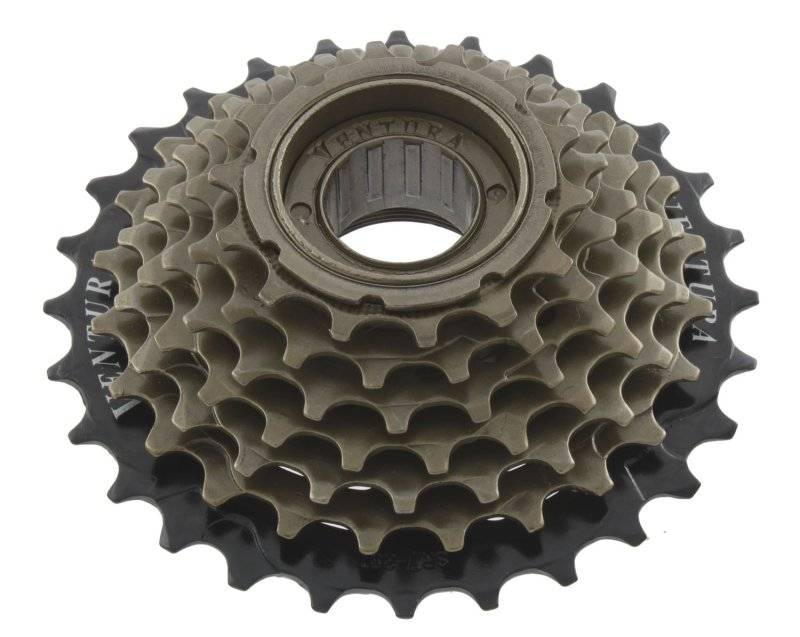 Кассета-трещотка VENTURA, 5 скоростей, 5х14-28 черно-коричневая, HG, SHIMANO-совместимая, 5-700173