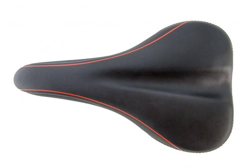 Седло велосипедное Vinca Sport, комфортное, 258*175мм, черное, VS 6183