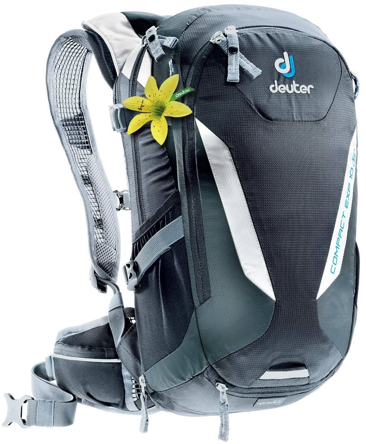 Велорюкзак Deuter Bike Compact EXP 10 SL, для женщин, 46х22х19, 10+2 л, черный, 3200115_7410