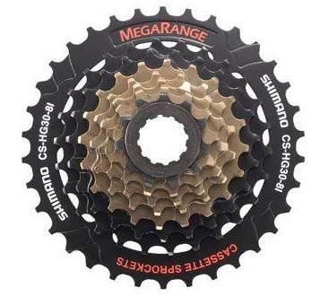 Кассета велосипедная Shimano Altus, 8х11-30Т черно-коричневая ACSHG308132P 5-5821215