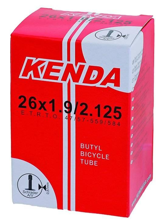 """Камера для велосипеда KENDA 26""""х1.75-2.125 (47/57-559)  автониппель 5-511313, фото 2"""