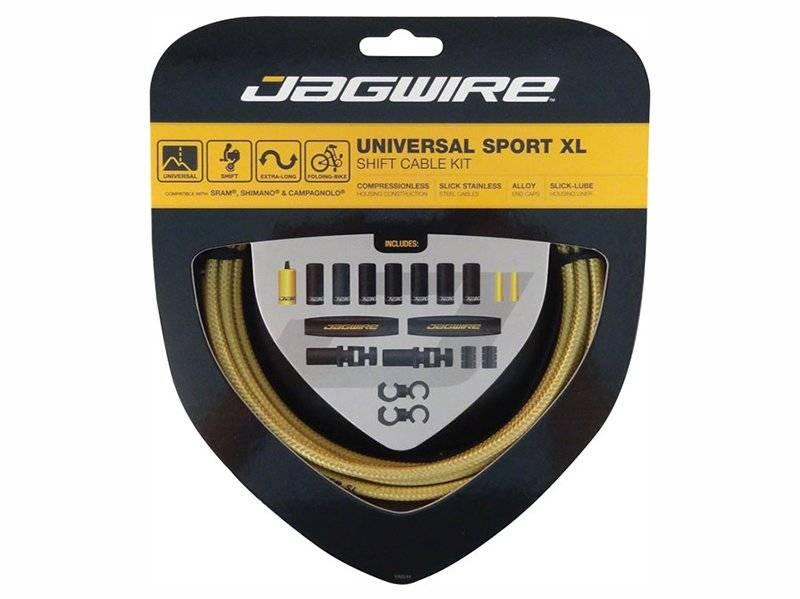 Тросы с оболочками JAGWIRE тормозные,Universal Sport Shift XL, комплект, золотой, UCK604