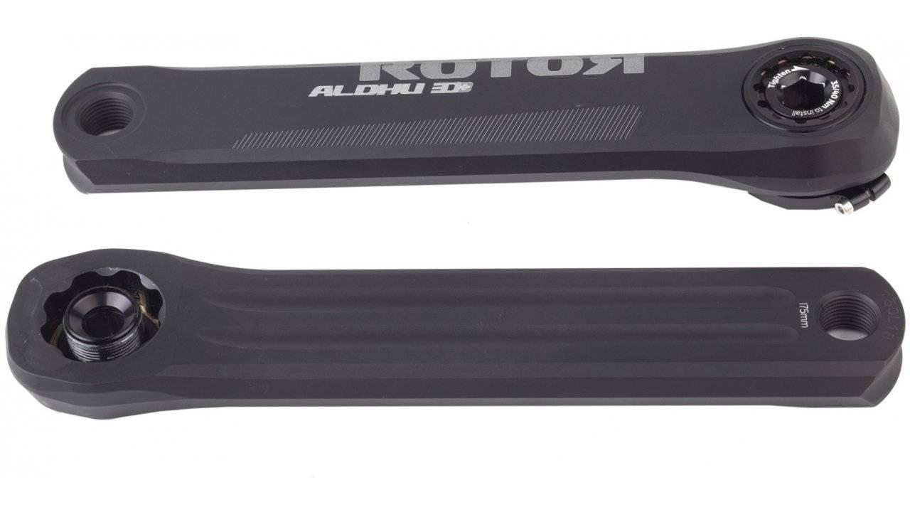 Шатуны Rotor Aldhu 3D+ Crank Arms Black 175mm (C02-102-21010-0), фото 1