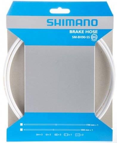 Гидролиния SHIMANO BH90-SS, 1000 мм, обрезной, цвет белый ESMBH90SSW100