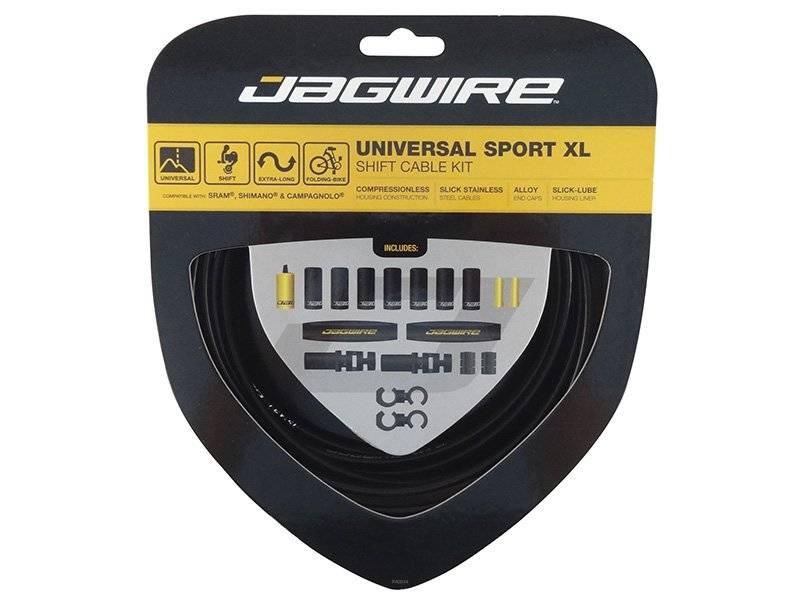 Тросы с оболочками JAGWIRE для переключателей, Universal Sport Shift XL, комплект, чёрный, UCK600