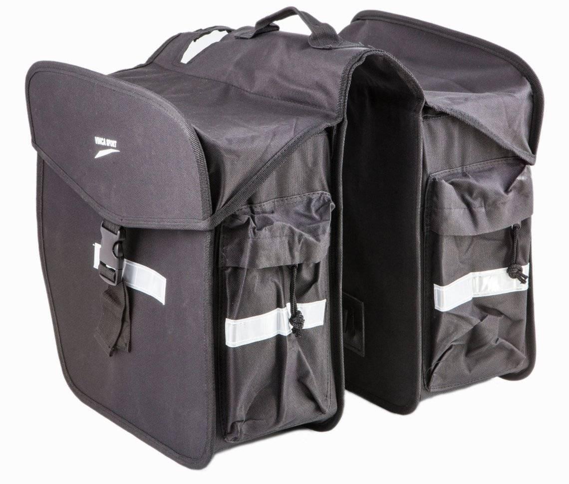Сумка-штаны велосипедная Vinca Sport, размеры боковых частей: 350*335*153мм, 16.5 литров, 14264