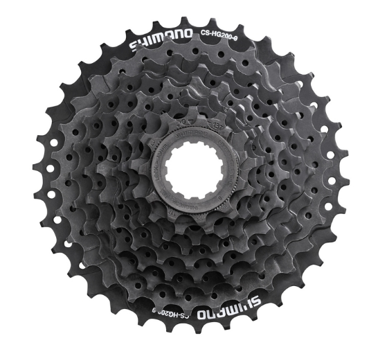 Кассета велосипедная Shimano Altus HG200, 9 скоростей, 11-32T, ECSHG2009132