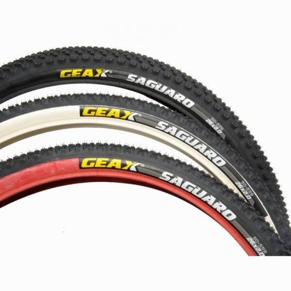 Покрышка велосипедная GEAX Saguaro , rigid, 26x2.0, red/black/black, 112.3SG.23.50.211TG