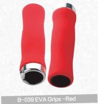 Грипсы для руля Kivi, Eva, красный, B-039