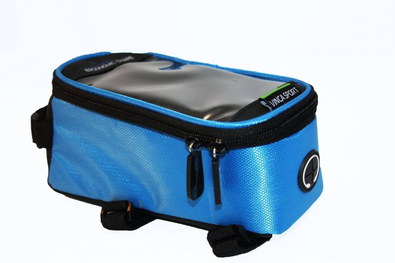 Велосумка на раму, отделение для телефона, отверстие под наушники, 190х90х95мм, FB 07M blue
