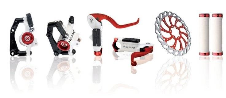 Тормозной набор для велосипеда CLARK`S передний+задний дисковой 3-147