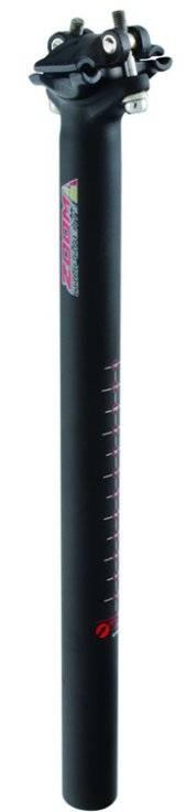 Штырь подседельный для велосипеда ZOOM 27,2х350мм алюминий без смещения черный 5-252740, фото 1