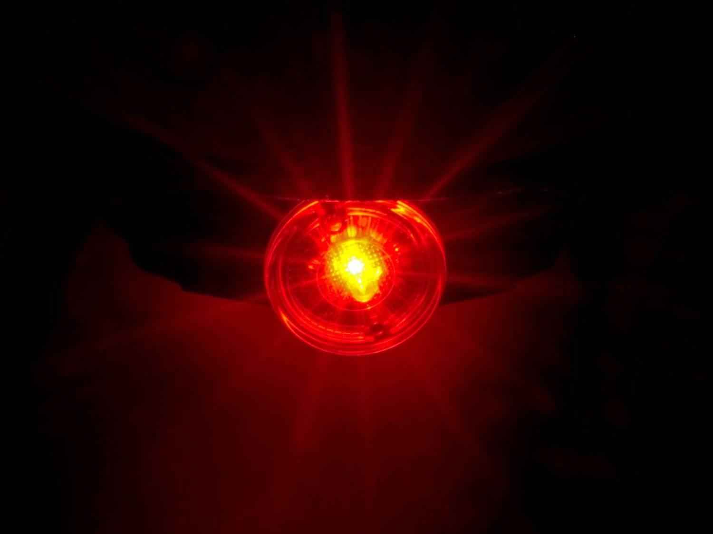 Шлем детский AUTHOR Mirage 168, светодиодный фонарь, 12 отверстий, красный, 48-54см, 8-9089983, фото 3