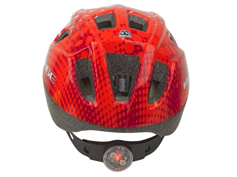 Шлем детский AUTHOR Mirage 168, светодиодный фонарь, 12 отверстий, красный, 48-54см, 8-9089983, фото 4